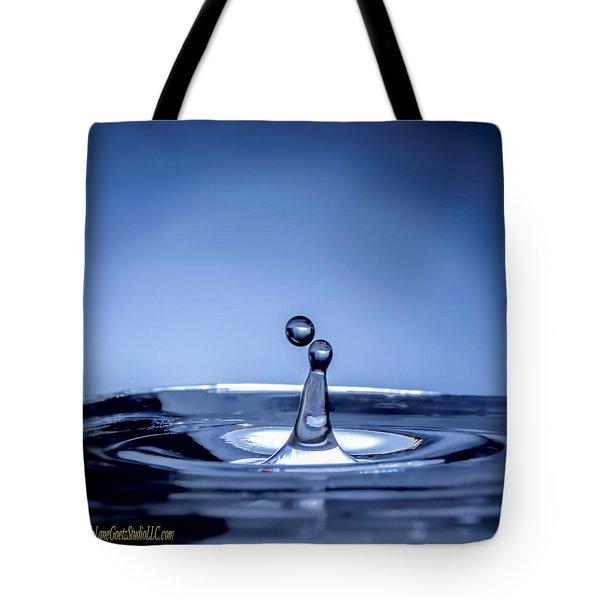 Attraction Water Droplets Tote Bag by LeeAnn McLaneGoetz McLaneGoetzStudioLLCcom