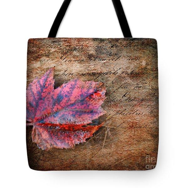 Atumn Leaf Tote Bag