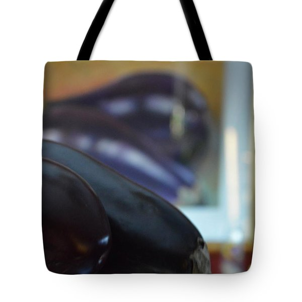 Tote Bag featuring the photograph Aubergine A Go Go  by Brian Boyle