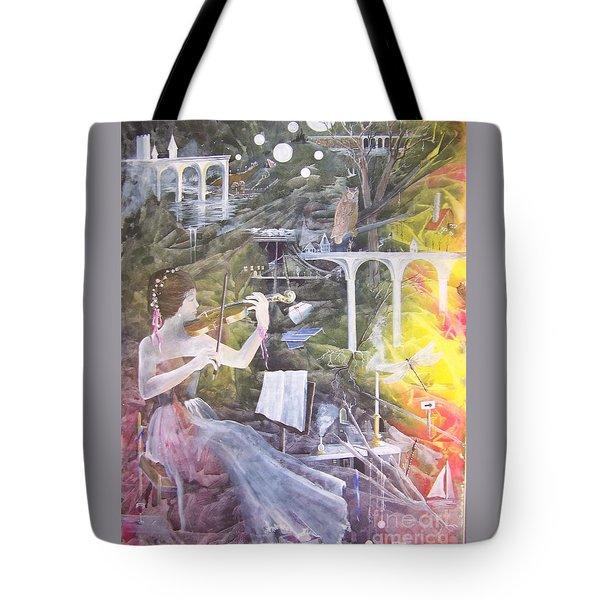 Aubry's Nocturne Tote Bag by Jackie Mueller-Jones