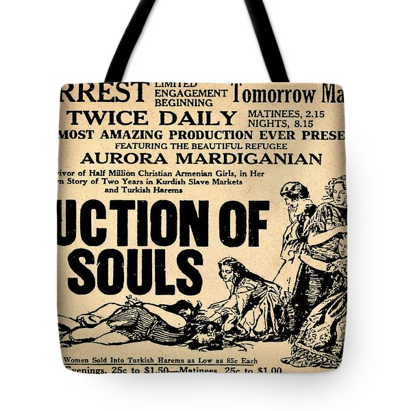 Auction Of Souls Tote Bag by Bill Cannon