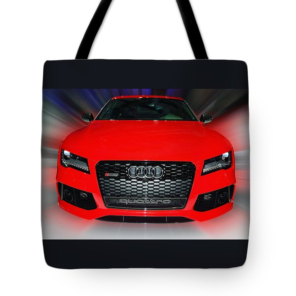 Audi Quattro Rs7 2014 Tote Bag