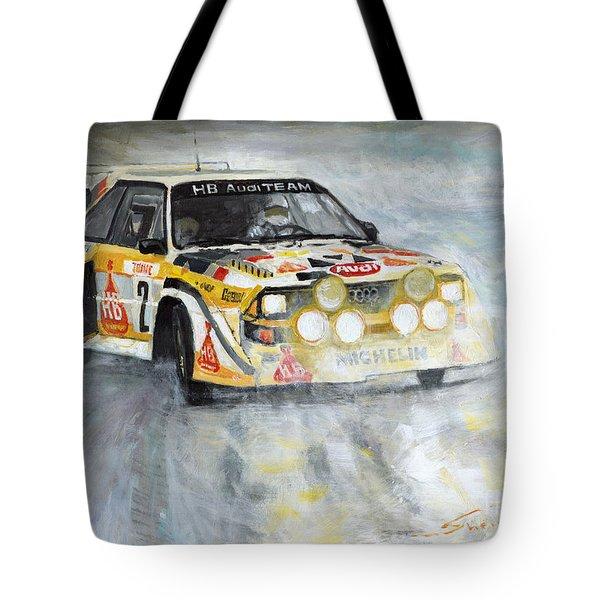 1985 Audi Quattro S1 Tote Bag