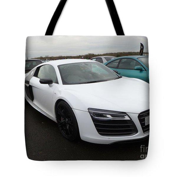 Audi R8 V10 Tote Bag by Vicki Spindler