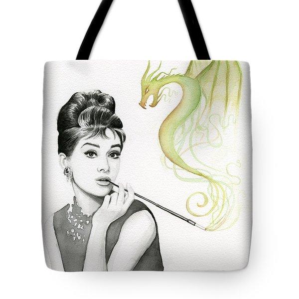 Audrey And Her Magic Dragon Tote Bag