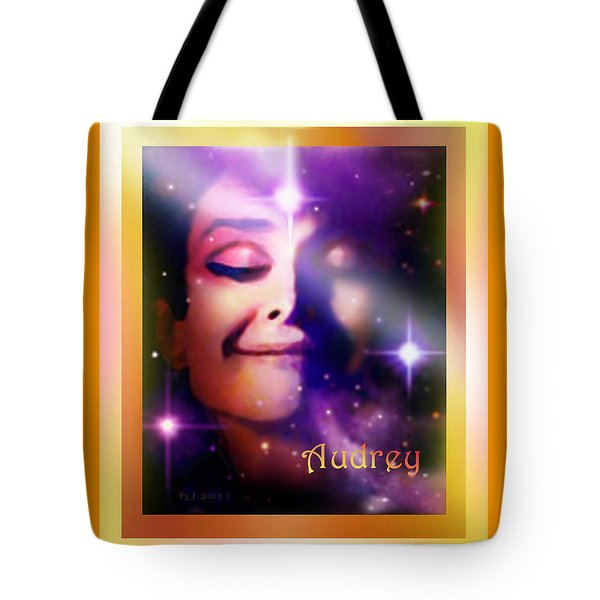 Tote Bag featuring the painting Audrey - Audrey Hepburn by Hartmut Jager