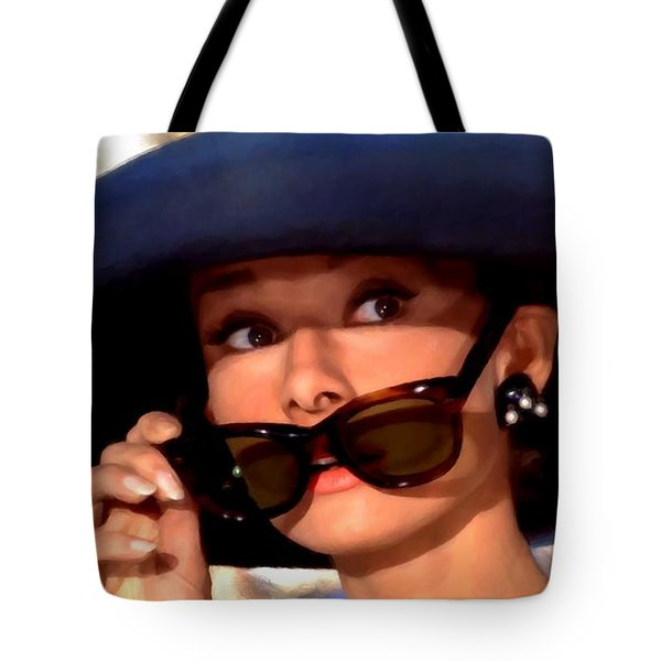 Audrey Hepburn @ Breakfast At Tiffany's Tote Bag