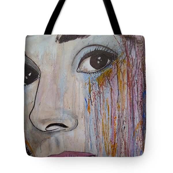 Audrey Hepburn-abstract 2 Tote Bag by Ismeta Gruenwald