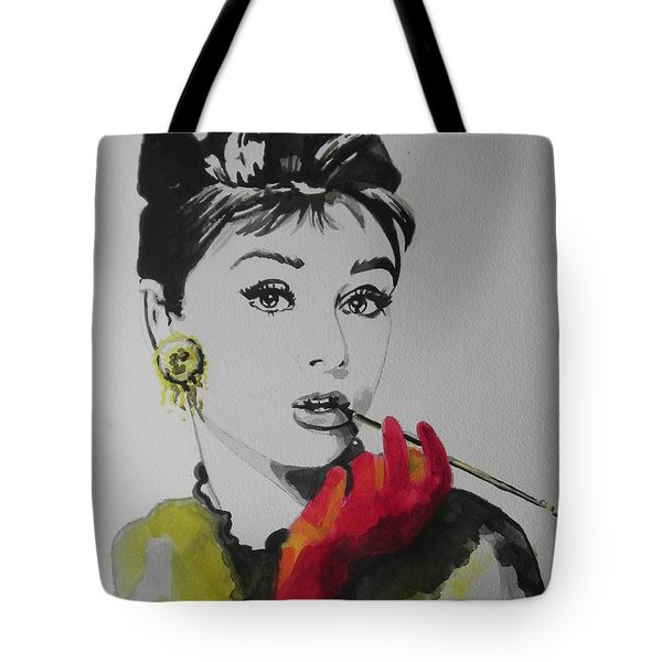 Audrey Hepburn Tote Bag by Chrisann Ellis