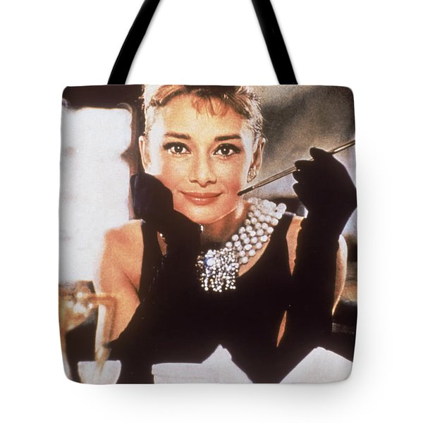 Audrey Hepburn Tote Bag by Georgia Fowler