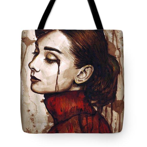 Audrey Hepburn - Quiet Sadness Tote Bag
