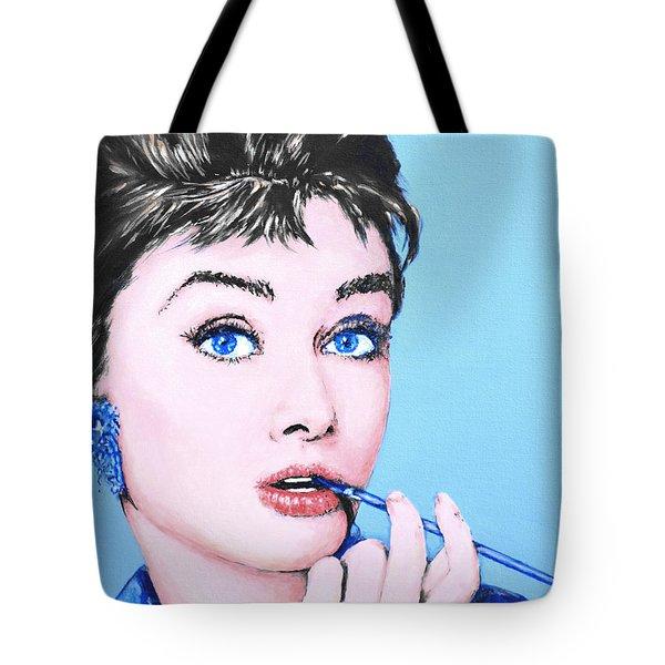 Audrey Hepburn Tote Bag by Victor Minca