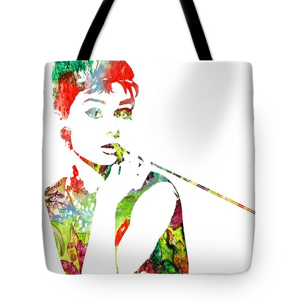 Audrey Hepburn - Watercolor Tote Bag