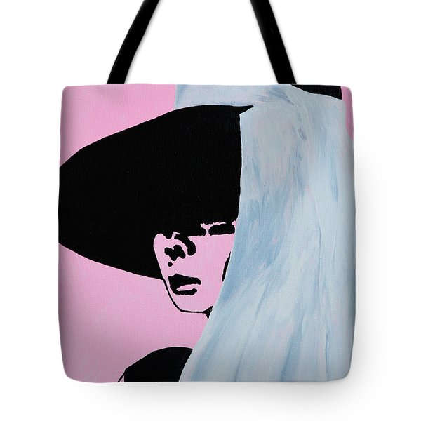 Audrey Hepburn Wears A Hat Tote Bag by Alys Caviness-Gober