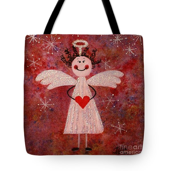 Audrey The Angel Tote Bag