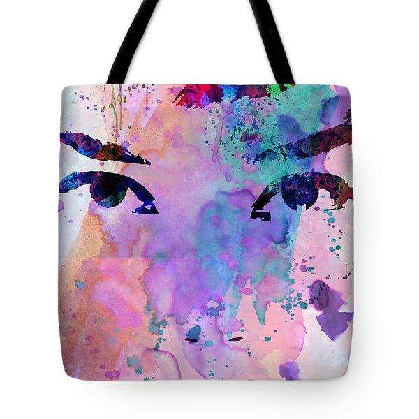 Audrey Watercolor Tote Bag by Naxart Studio