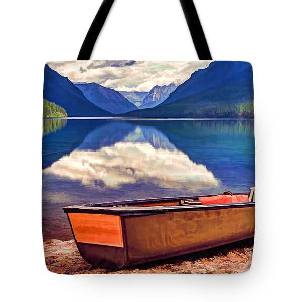 August Afternoon At The Lake Tote Bag by Jaki Miller