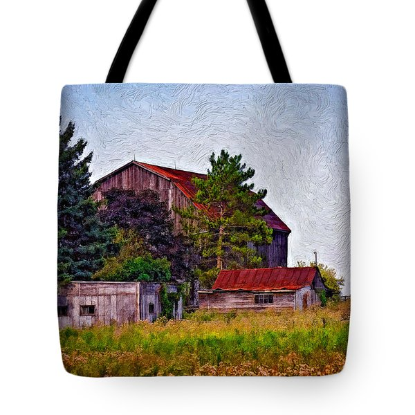August Afternoon Impasto Tote Bag by Steve Harrington