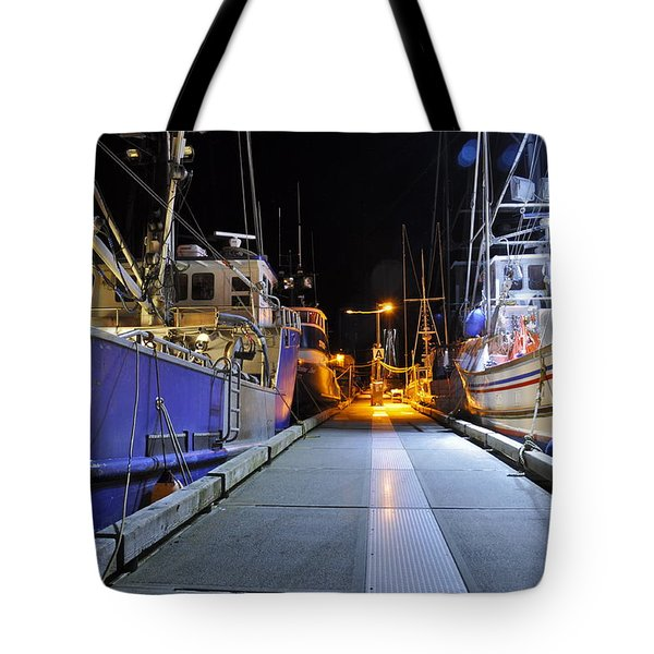 Tote Bag featuring the photograph Auke Bay By Night by Cathy Mahnke