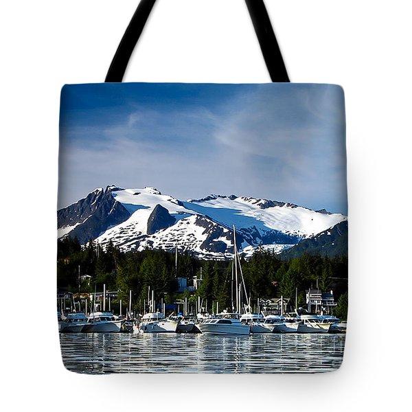 Auke Bay Marina Tote Bag
