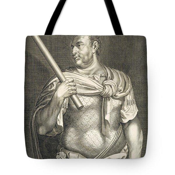 Aullus Vitellius Emperor Of Rome Tote Bag by Titian