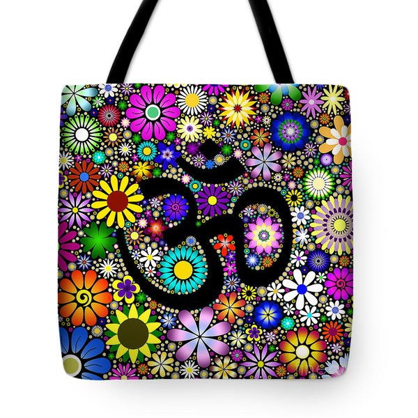 Aum Flowers Tote Bag