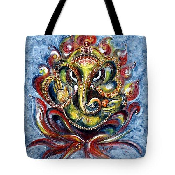 Aum Ganesha Tote Bag by Harsh Malik