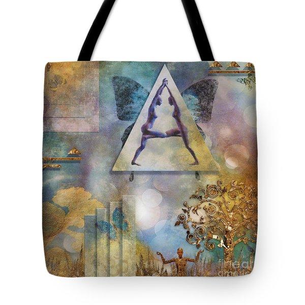 Tote Bag featuring the digital art Aum by Nola Lee Kelsey