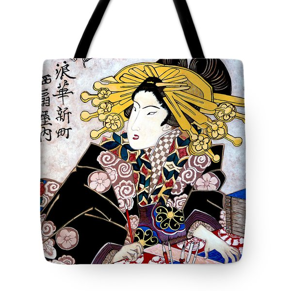 Tote Bag featuring the painting Aunt Annie by Tom Roderick