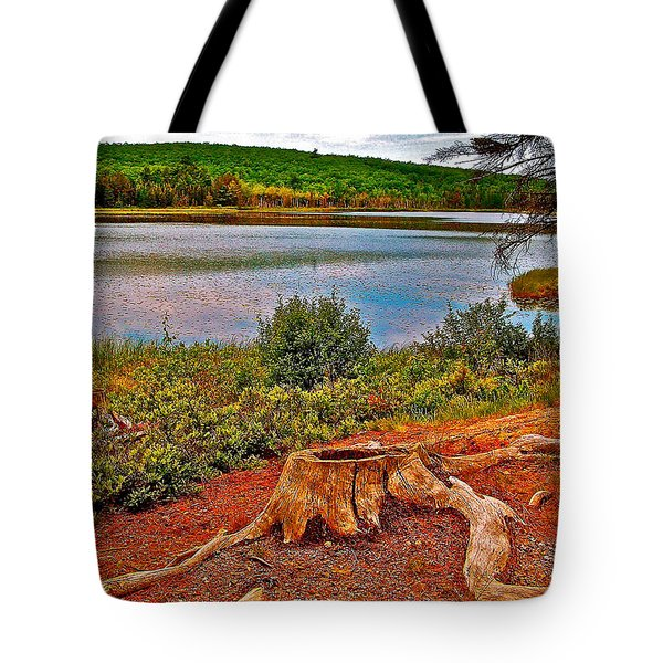 Aunt Betty Pond In Acadia National Park-maine  Tote Bag