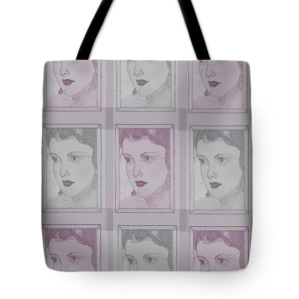 Aunt Edie Print Tote Bag