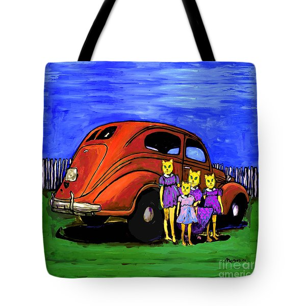Aunt Laverne And The Kitties Tote Bag