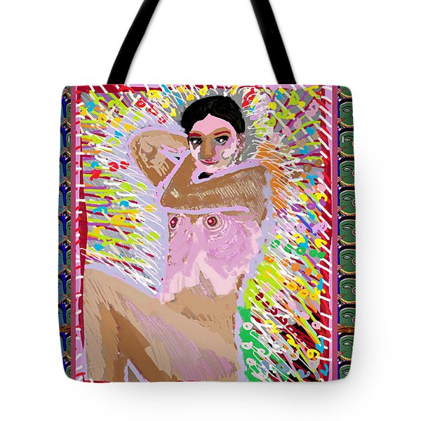 Aura Art Effect Of Love In Heart Showering Sparkle Colors Navin Joshi Rights Managed Images Graphic  Tote Bag