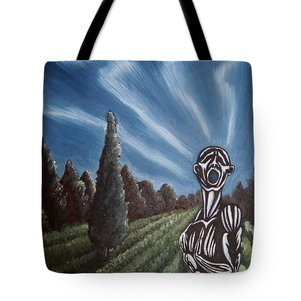 Tote Bag featuring the painting Aurora by Michael  TMAD Finney