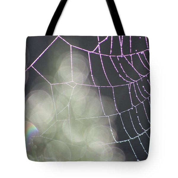 Tote Bag featuring the photograph Aurora's Web by Cathie Douglas