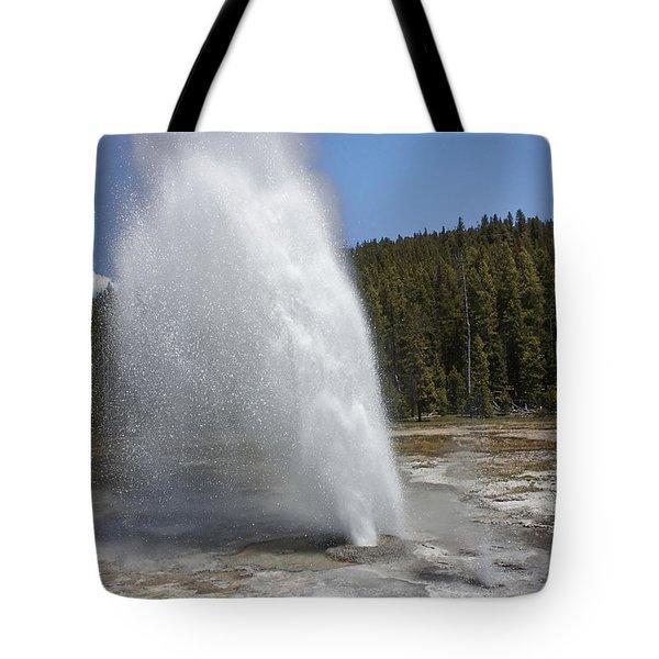 Aurum Geyser Eruption Tote Bag