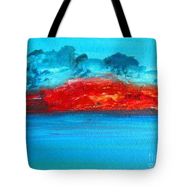 Tote Bag featuring the painting Aussie Outback by Roberto Gagliardi