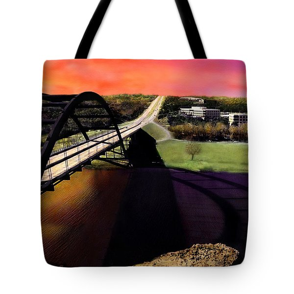 Austin 360 Bridge Tote Bag by Marilyn Hunt