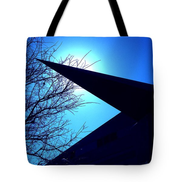 Austin City Hall Point Eclipse Tote Bag