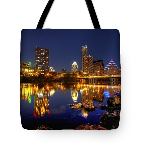 Austin On The Rocks Tote Bag by Dave Files