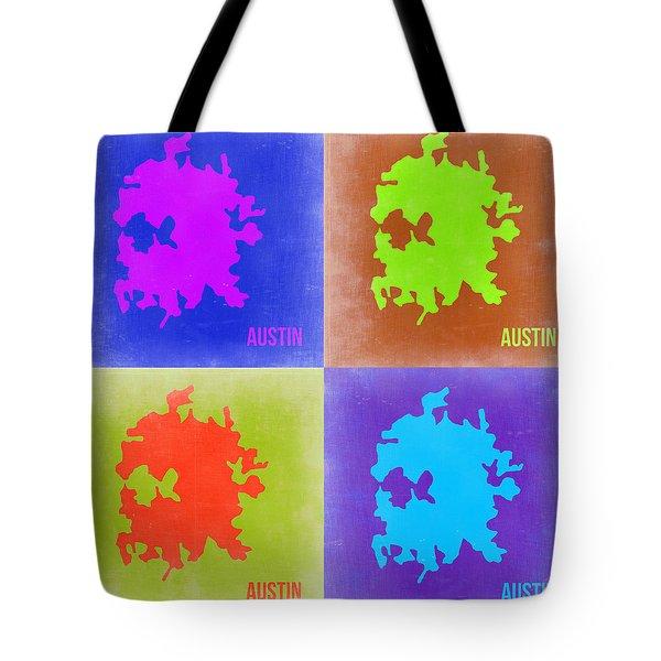 Austin Pop Art Map 2 Tote Bag