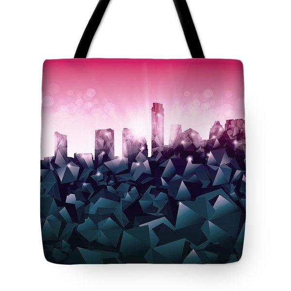 Austin Skyline Geometry 2 Tote Bag