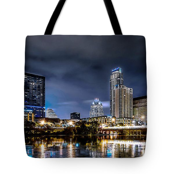 Austin Skyline Hdr Tote Bag