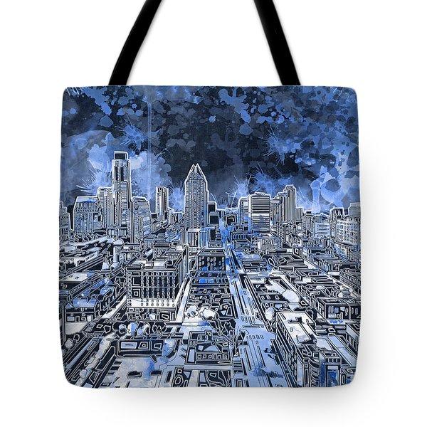 Austin Texas Abstract Panorama 5 Tote Bag