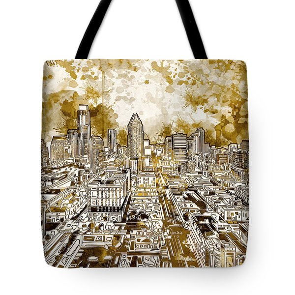 Austin Texas Abstract Panorama 6 Tote Bag