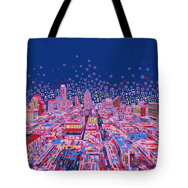 Austin Texas Abstract Panorama Tote Bag