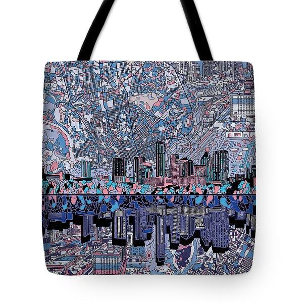 Austin Texas Skyline 3 Tote Bag