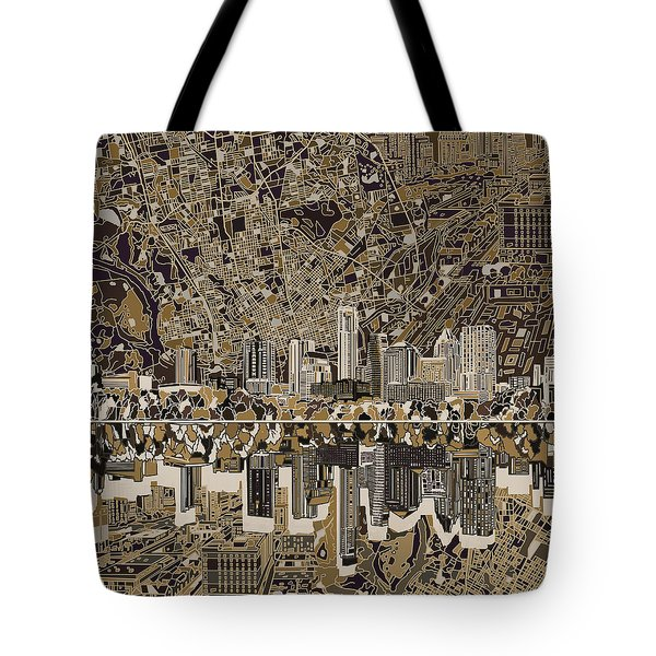 Austin Texas Skyline 5 Tote Bag by Bekim Art