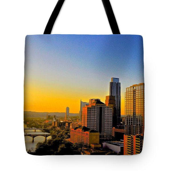 Austin's Golden Skyline Tote Bag