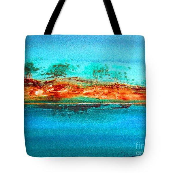 Tote Bag featuring the painting Australia Billabong 1 by Roberto Gagliardi